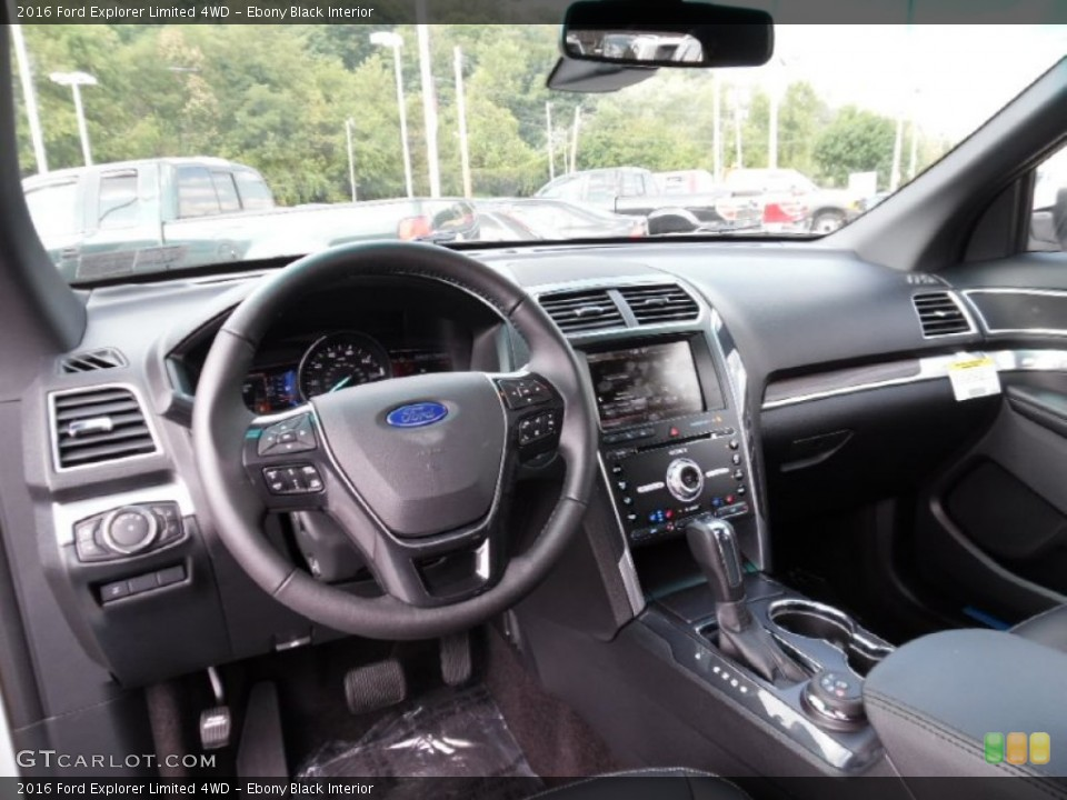 Ebony Black Interior Dashboard for the 2016 Ford Explorer Limited 4WD #106991623