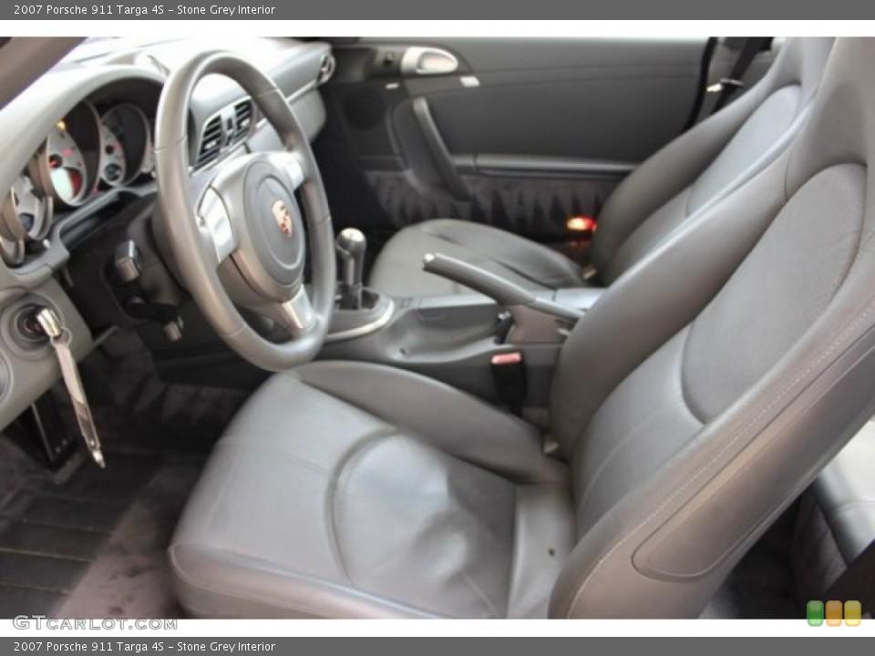Stone Grey 2007 Porsche 911 Interiors