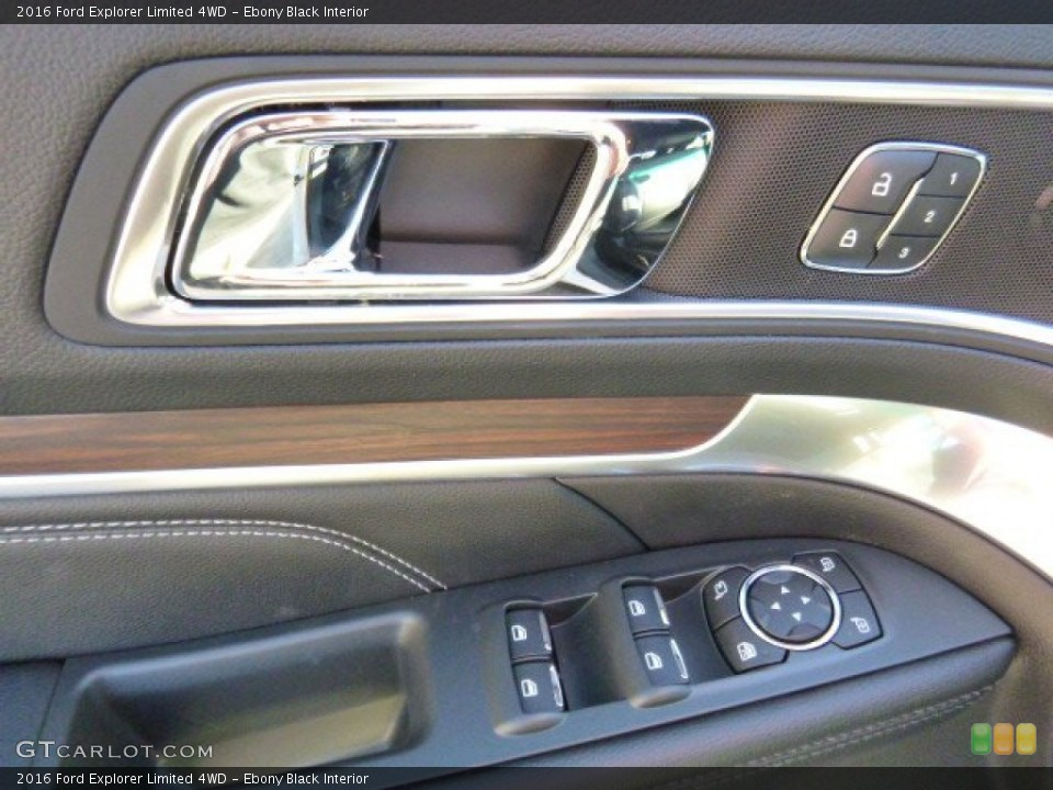 Ebony Black Interior Controls for the 2016 Ford Explorer Limited 4WD #107430292