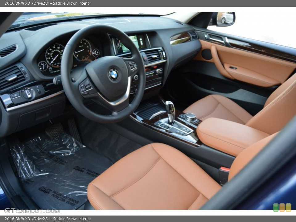 Saddle Brown Interior Photo for the 2016 BMW X3 xDrive28i #107444539