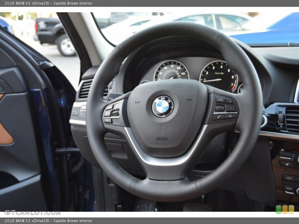 Saddle Brown Interior Steering Wheel for the 2016 BMW X3 xDrive28i #107444659