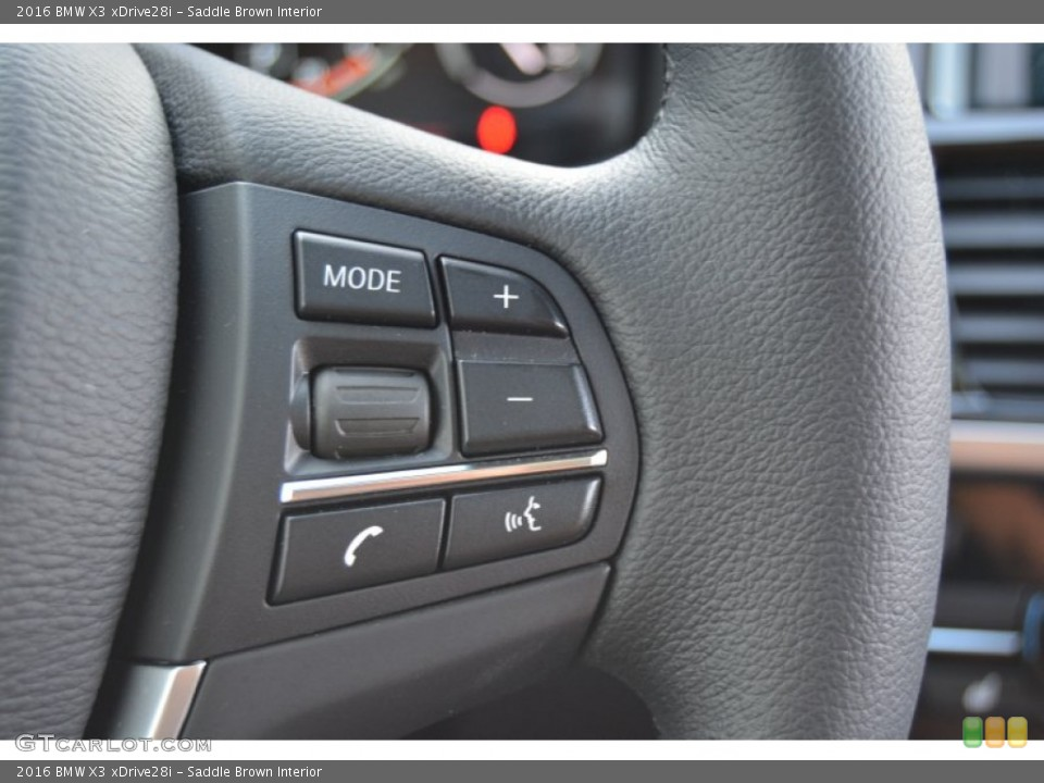 Saddle Brown Interior Controls for the 2016 BMW X3 xDrive28i #107444692