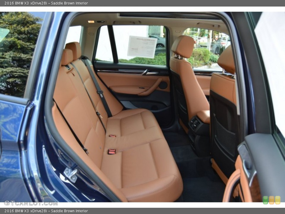 Saddle Brown Interior Rear Seat for the 2016 BMW X3 xDrive28i #107444791