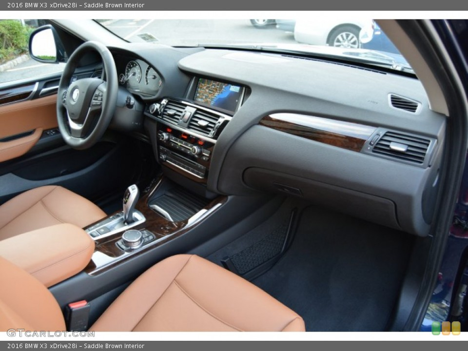 Saddle Brown Interior Dashboard for the 2016 BMW X3 xDrive28i #107444833