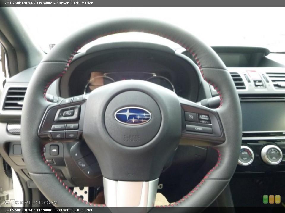 Carbon Black Interior Steering Wheel for the 2016 Subaru WRX Premium #107471393