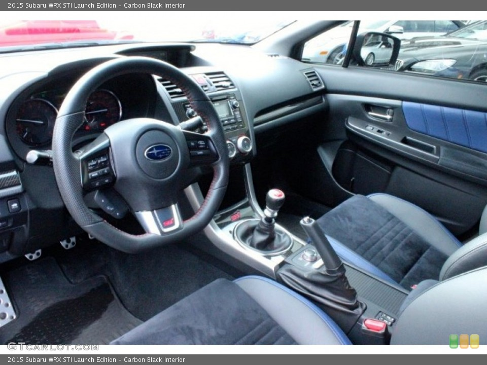 Carbon Black Interior Prime Interior for the 2015 Subaru WRX STI Launch Edition #107530922