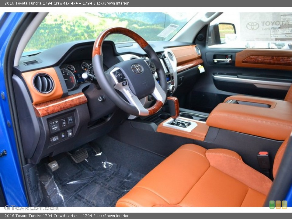 1794 Black/Brown Interior Prime Interior for the 2016 Toyota Tundra 1794 CrewMax 4x4 #107564325