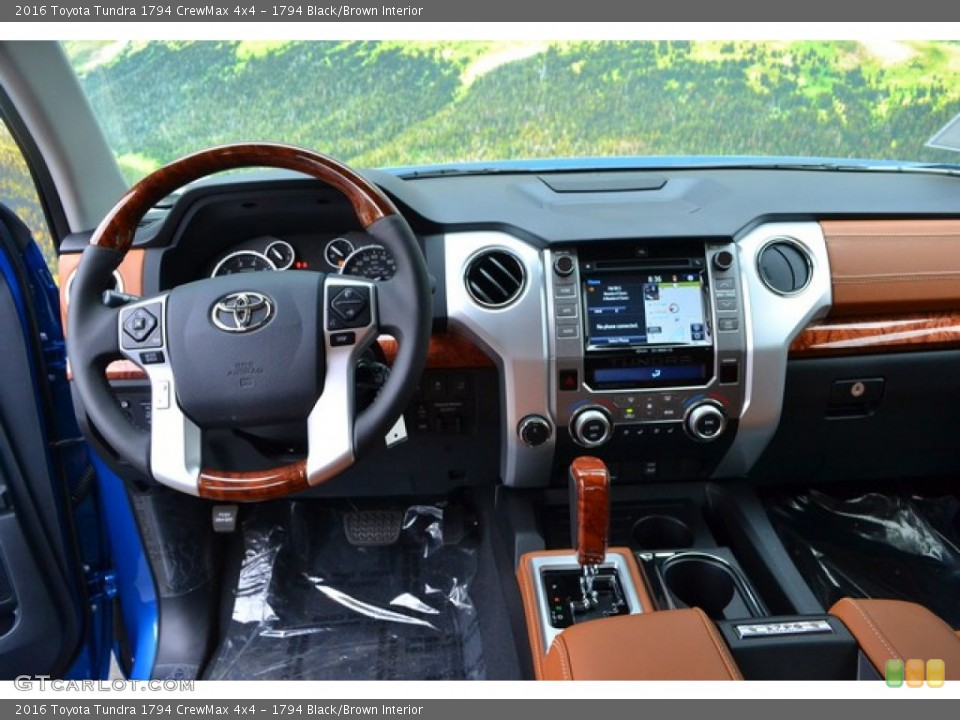 1794 Black/Brown Interior Dashboard for the 2016 Toyota Tundra 1794 CrewMax 4x4 #107564343