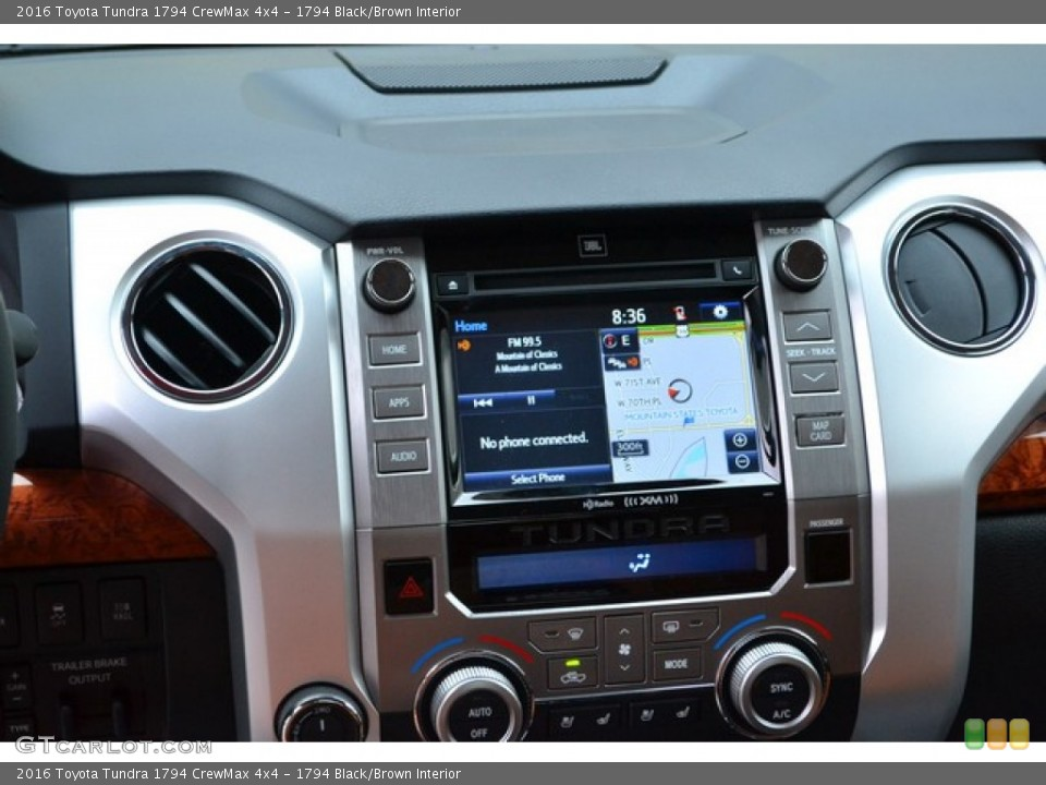 1794 Black/Brown Interior Navigation for the 2016 Toyota Tundra 1794 CrewMax 4x4 #107564364
