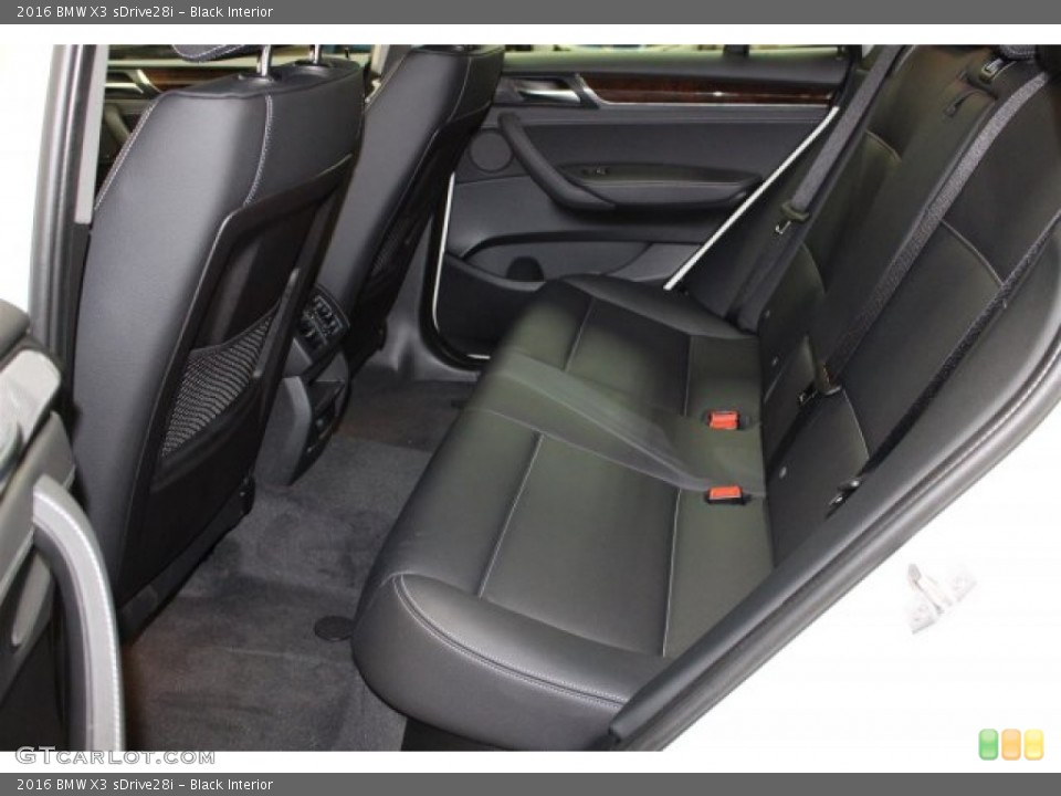 Black Interior Rear Seat for the 2016 BMW X3 sDrive28i #107598584