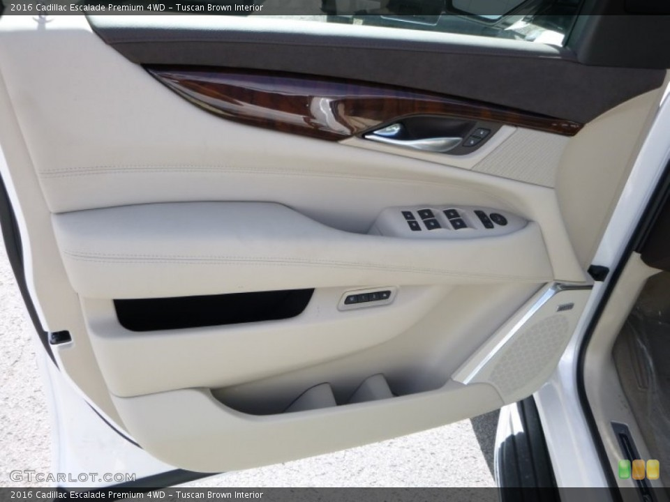 Tuscan Brown Interior Door Panel for the 2016 Cadillac Escalade Premium 4WD #107688502