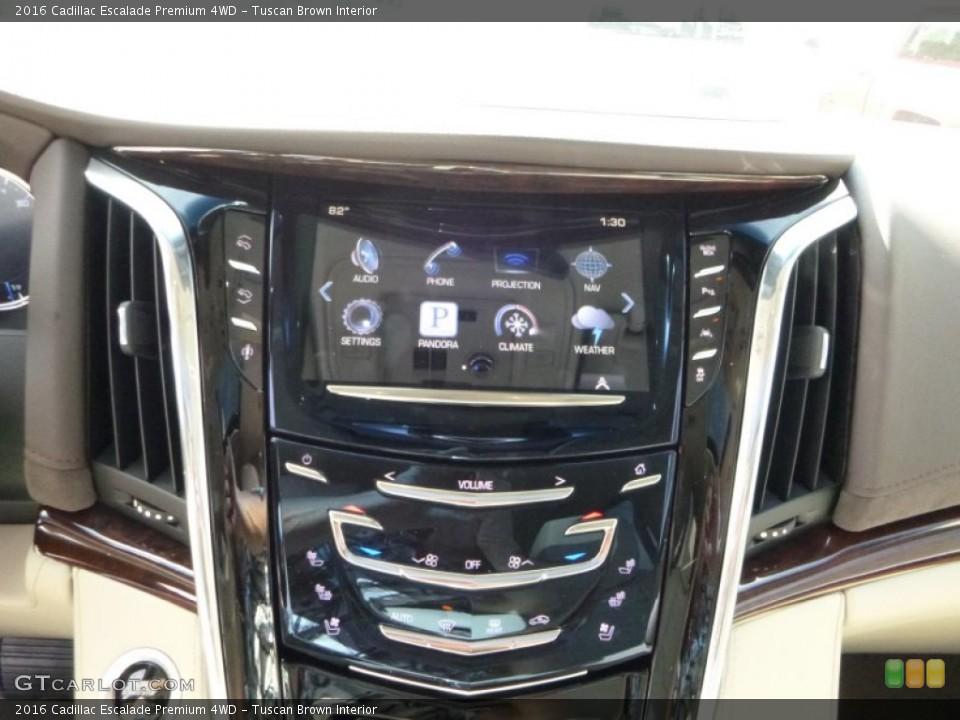 Tuscan Brown Interior Controls for the 2016 Cadillac Escalade Premium 4WD #107688552