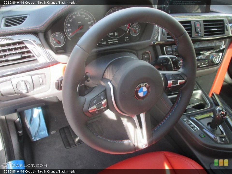 Sakhir Orange Black Interior Steering Wheel For The 2016 Bmw M4