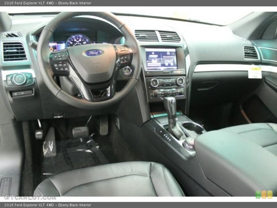 Ebony Black Interior Prime Interior for the 2016 Ford Explorer XLT 4WD #107880489