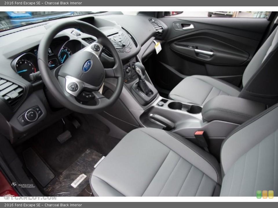 Charcoal Black 2016 Ford Escape Interiors