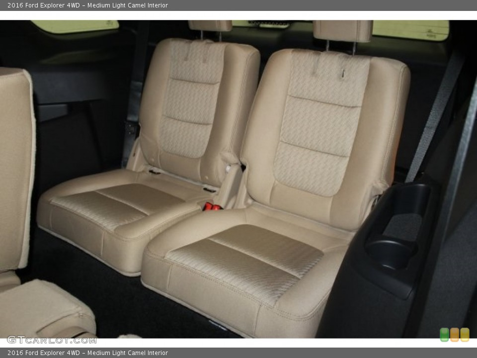 Medium Light Camel Interior Rear Seat for the 2016 Ford Explorer 4WD #107950290
