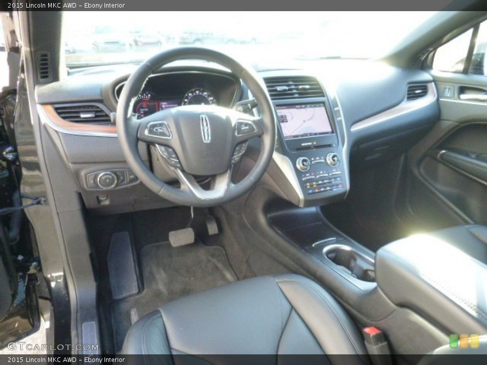 Ebony 2015 Lincoln MKC Interiors