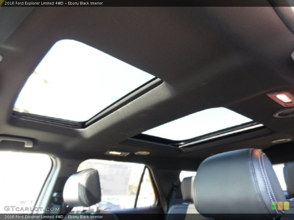 Ebony Black Interior Sunroof for the 2016 Ford Explorer Limited 4WD #108069115