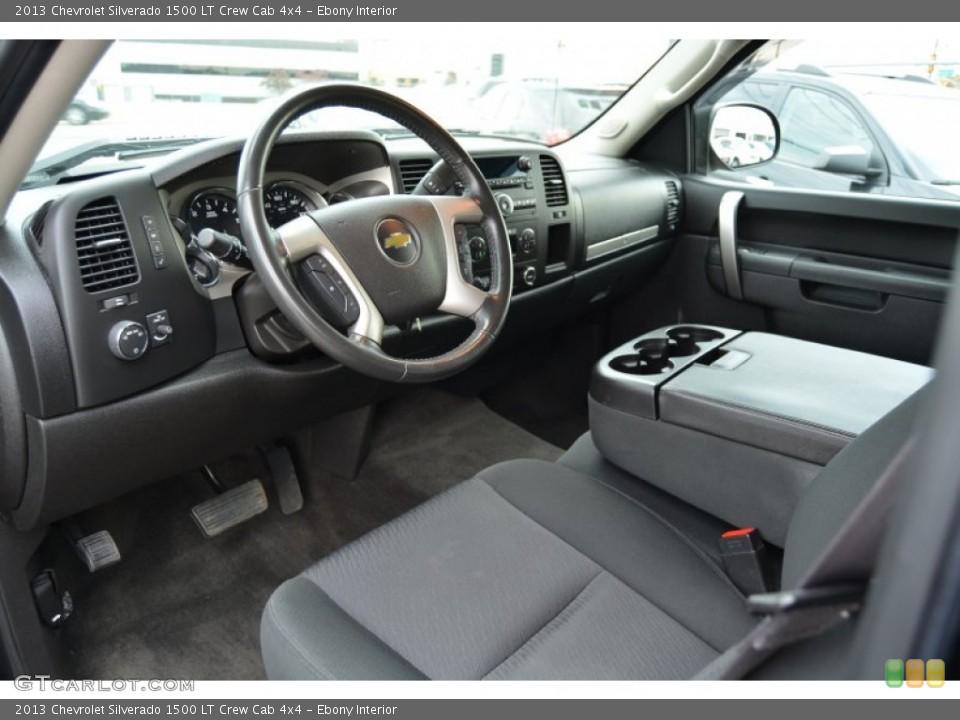 Ebony Interior Photo for the 2013 Chevrolet Silverado 1500 LT Crew Cab 4x4 #108118659
