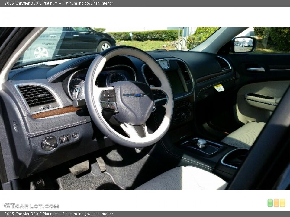 Platinum Indigo/Linen 2015 Chrysler 300 Interiors