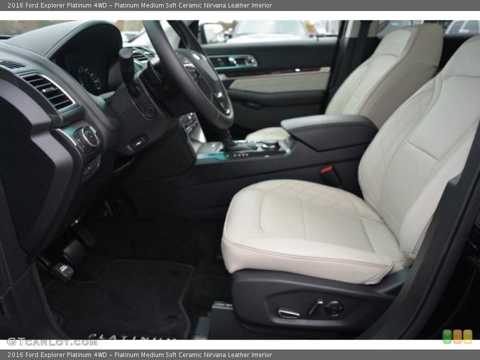 Platinum Medium Soft Ceramic Nirvana Leather Interior Photo for the 2016 Ford Explorer Platinum 4WD #108313326