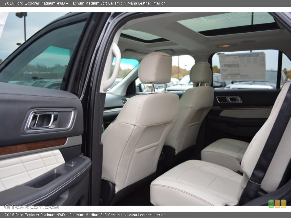 Platinum Medium Soft Ceramic Nirvana Leather Interior Rear Seat for the 2016 Ford Explorer Platinum 4WD #108313361