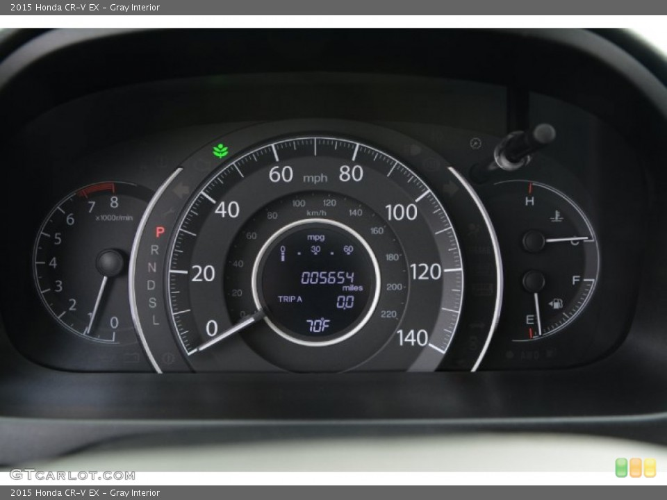 Gray Interior Gauges for the 2015 Honda CR-V EX #108372804