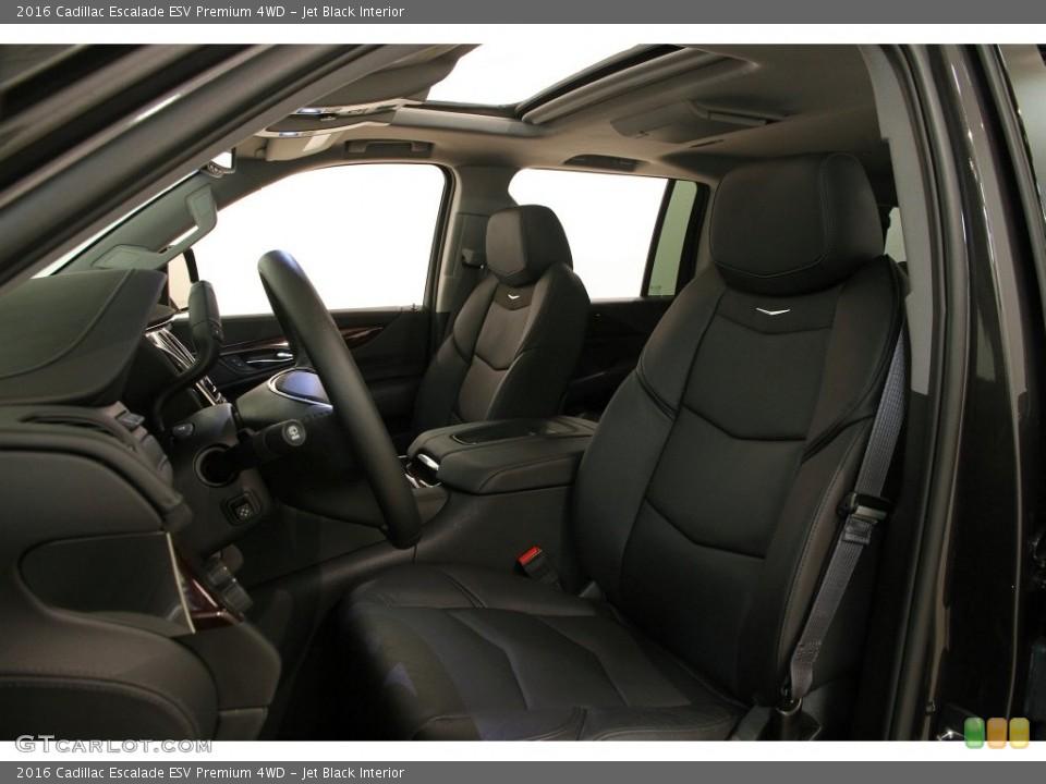 Jet Black 2016 Cadillac Escalade Interiors