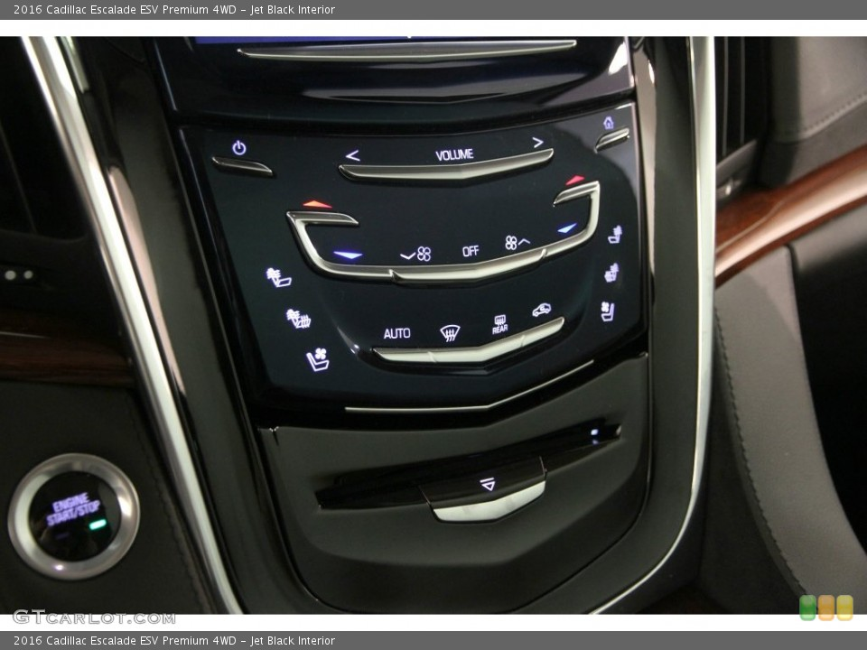 Jet Black Interior Controls for the 2016 Cadillac Escalade ESV Premium 4WD #108410544