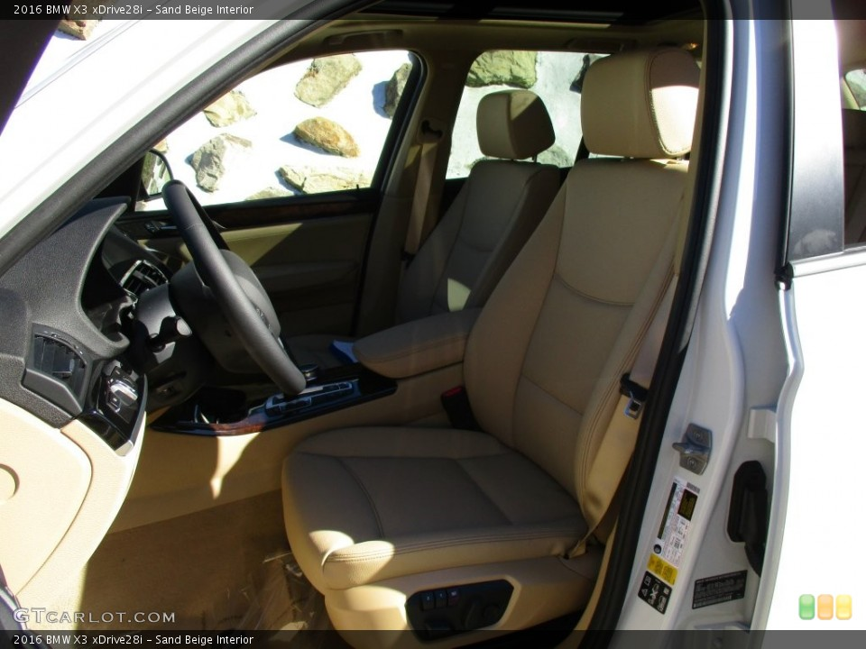Sand Beige Interior Photo for the 2016 BMW X3 xDrive28i #108410976