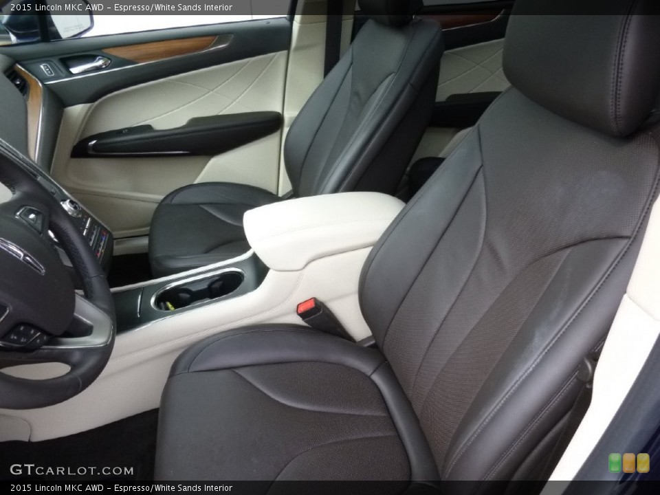 Espresso/White Sands Interior Front Seat for the 2015 Lincoln MKC AWD #108538988