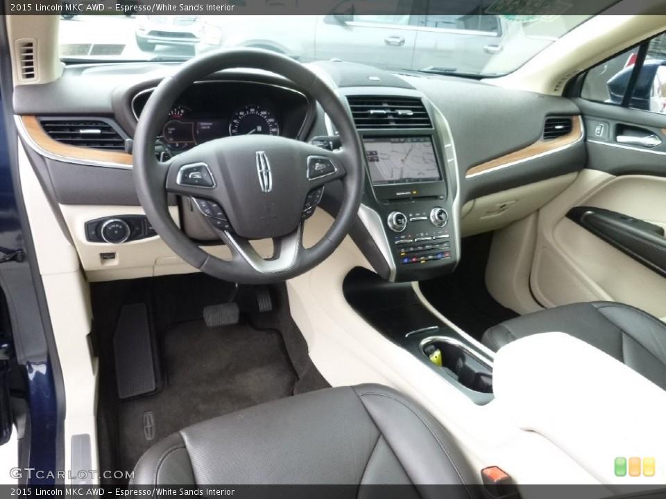 Espresso/White Sands Interior Prime Interior for the 2015 Lincoln MKC AWD #108539000