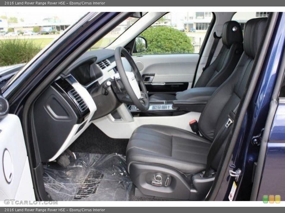 Ebony/Cirrus Interior Photo for the 2016 Land Rover Range Rover HSE #108571384