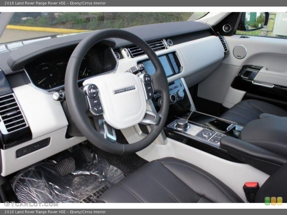 Ebony/Cirrus Interior Prime Interior for the 2016 Land Rover Range Rover HSE #108571414
