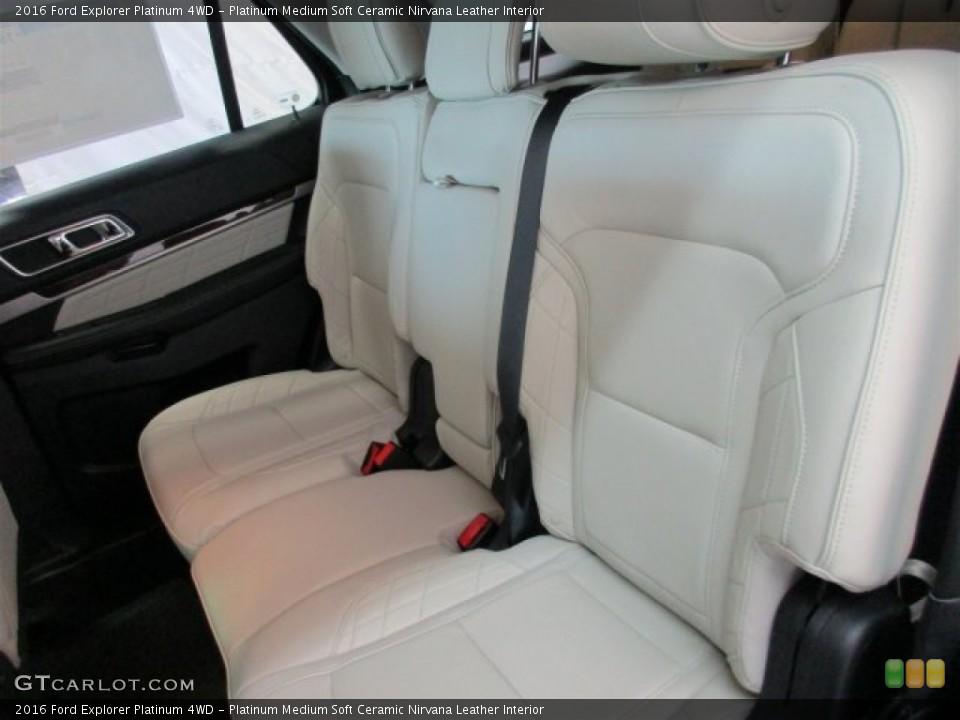 Platinum Medium Soft Ceramic Nirvana Leather Interior Rear Seat for the 2016 Ford Explorer Platinum 4WD #108610658