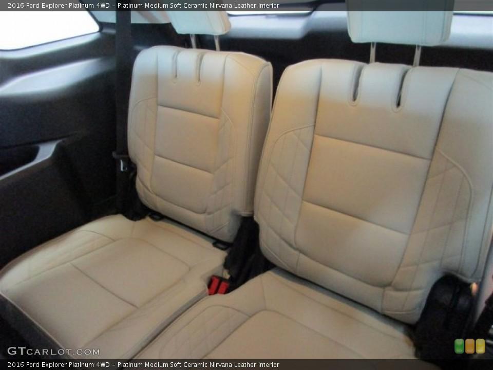 Platinum Medium Soft Ceramic Nirvana Leather Interior Rear Seat for the 2016 Ford Explorer Platinum 4WD #108610679