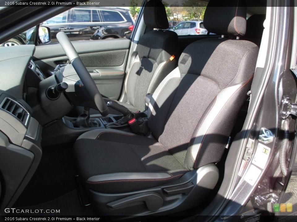 Black Interior Front Seat for the 2016 Subaru Crosstrek 2.0i Premium #108700480