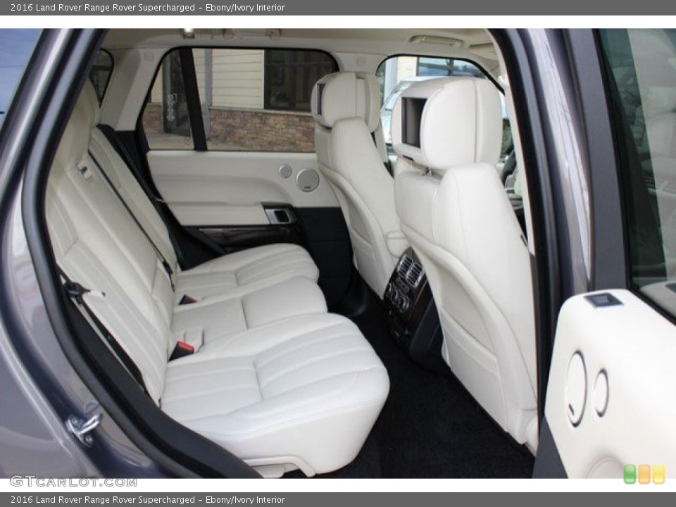 Ebony/Ivory Interior Rear Seat for the 2016 Land Rover Range Rover Supercharged #108757072