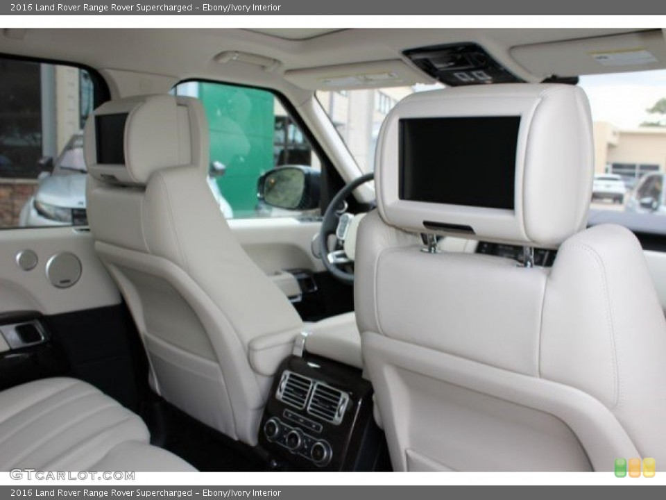 Ebony/Ivory Interior Entertainment System for the 2016 Land Rover Range Rover Supercharged #108757096