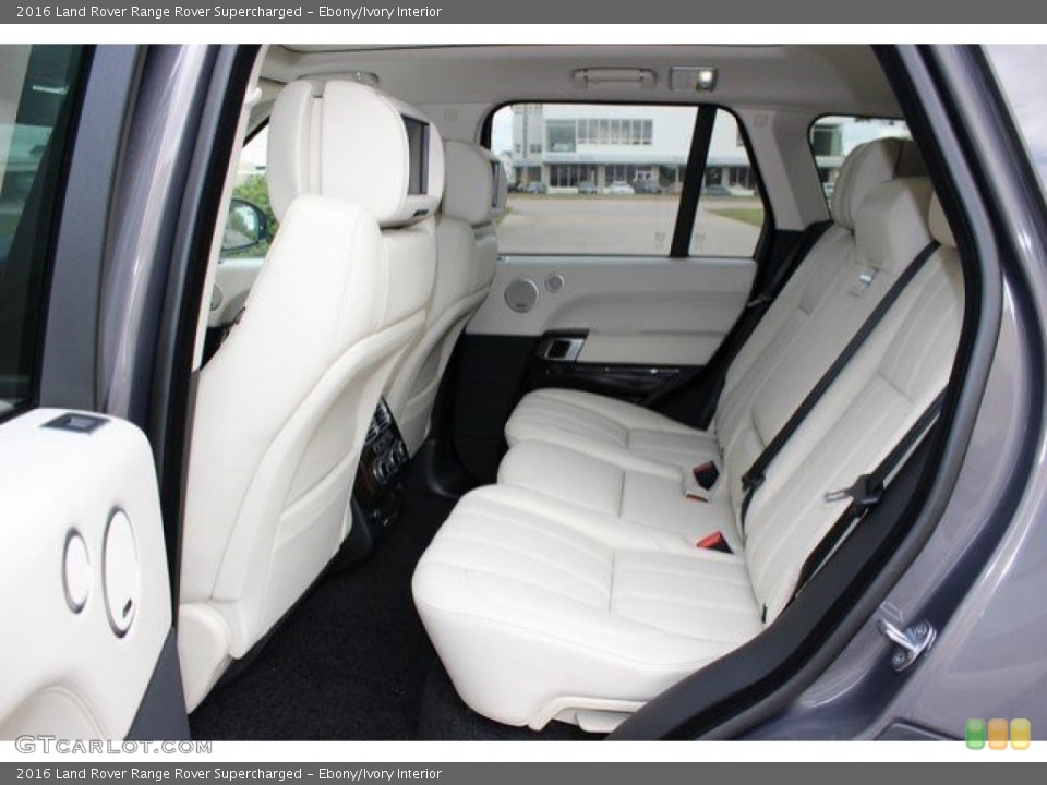Ebony/Ivory Interior Rear Seat for the 2016 Land Rover Range Rover Supercharged #108757216