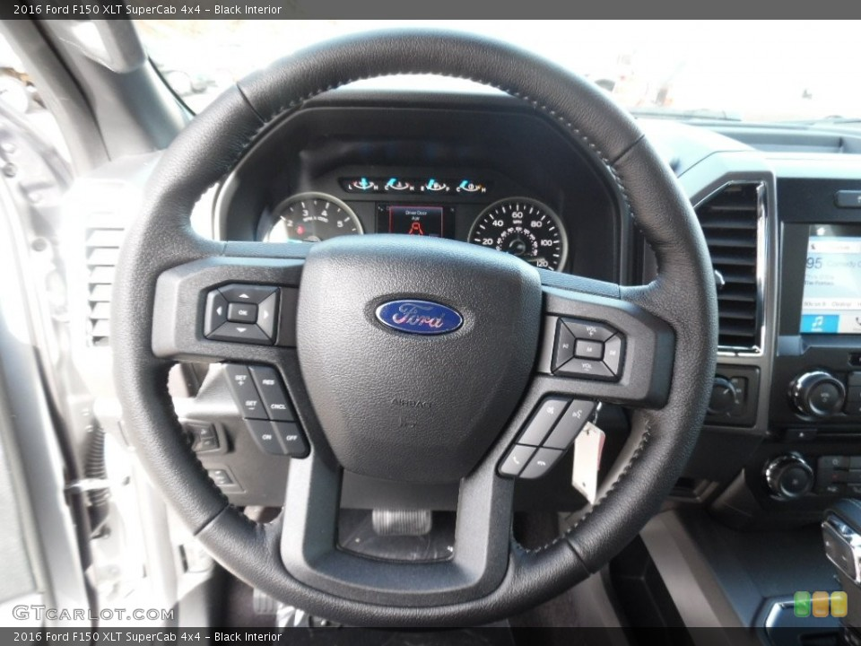 Black Interior Steering Wheel for the 2016 Ford F150 XLT SuperCab 4x4 #108776179