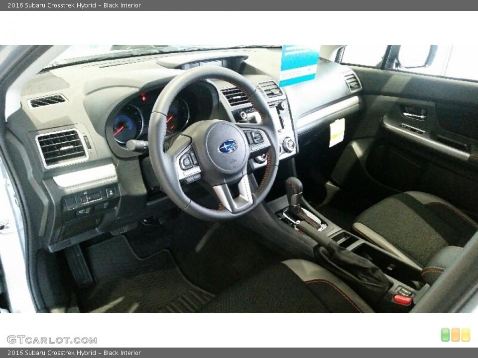 Black 2016 Subaru Crosstrek Interiors