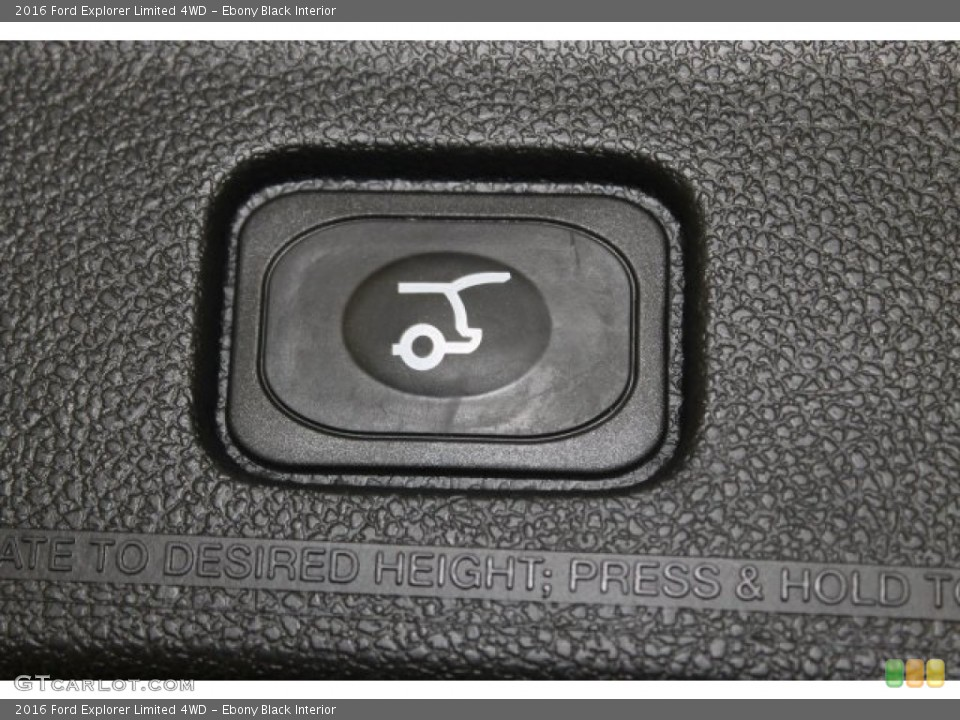 Ebony Black Interior Controls for the 2016 Ford Explorer Limited 4WD #108904079