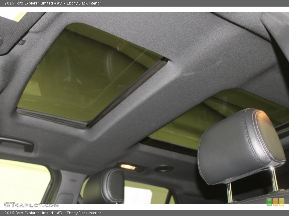 Ebony Black Interior Sunroof for the 2016 Ford Explorer Limited 4WD #108904097