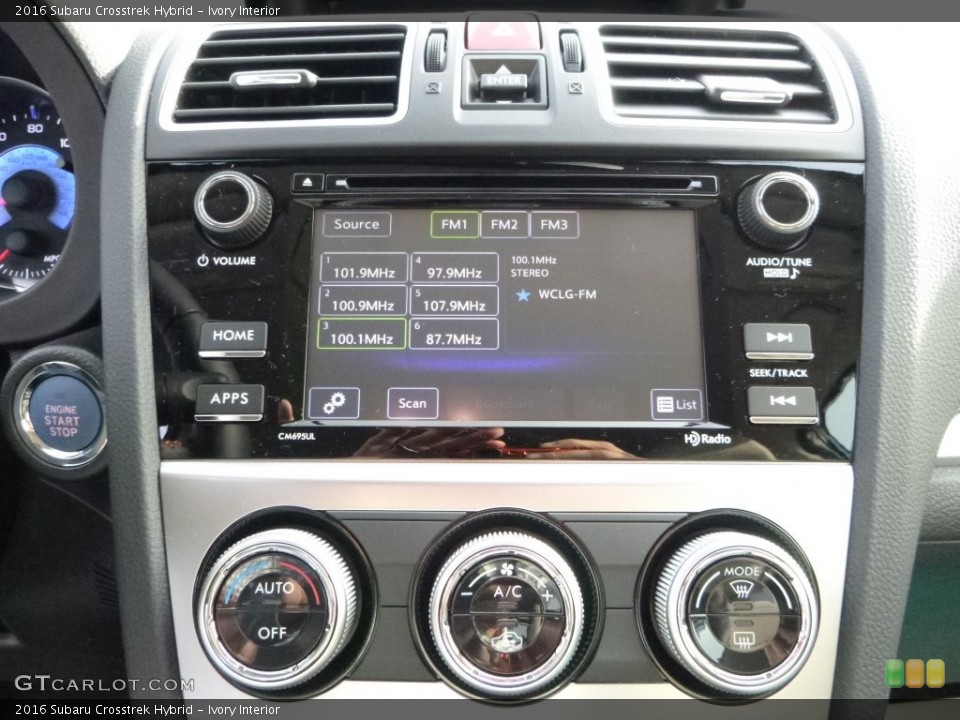 Ivory Interior Controls for the 2016 Subaru Crosstrek Hybrid #109017467