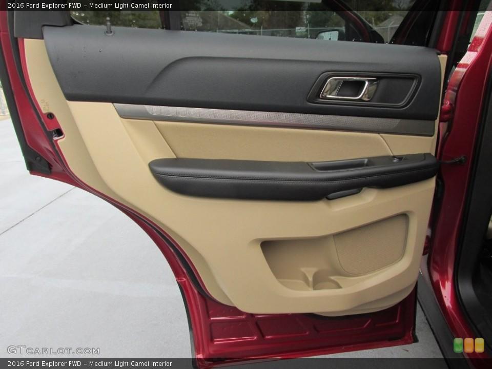 Medium Light Camel Interior Door Panel for the 2016 Ford Explorer FWD #109113214