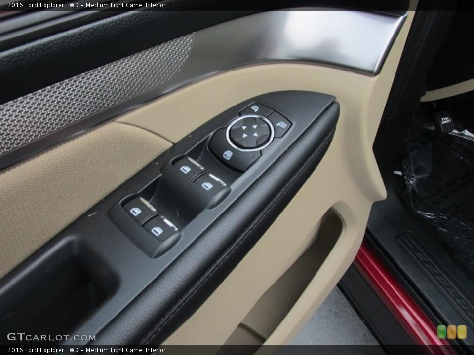 Medium Light Camel Interior Controls for the 2016 Ford Explorer FWD #109113223