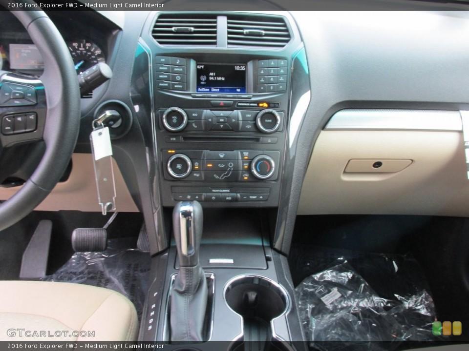 Medium Light Camel Interior Controls for the 2016 Ford Explorer FWD #109113235