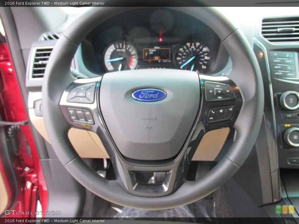 Medium Light Camel Interior Steering Wheel for the 2016 Ford Explorer FWD #109113247
