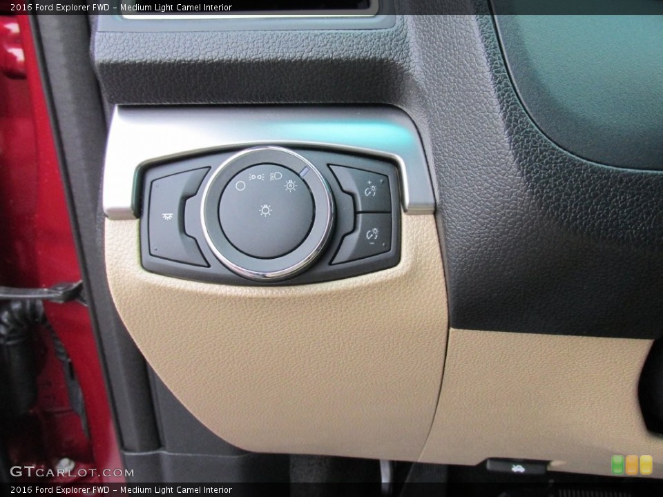 Medium Light Camel Interior Controls for the 2016 Ford Explorer FWD #109113253